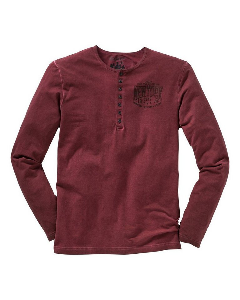 JOCKEY Langarm-Shirt in Bordeaux