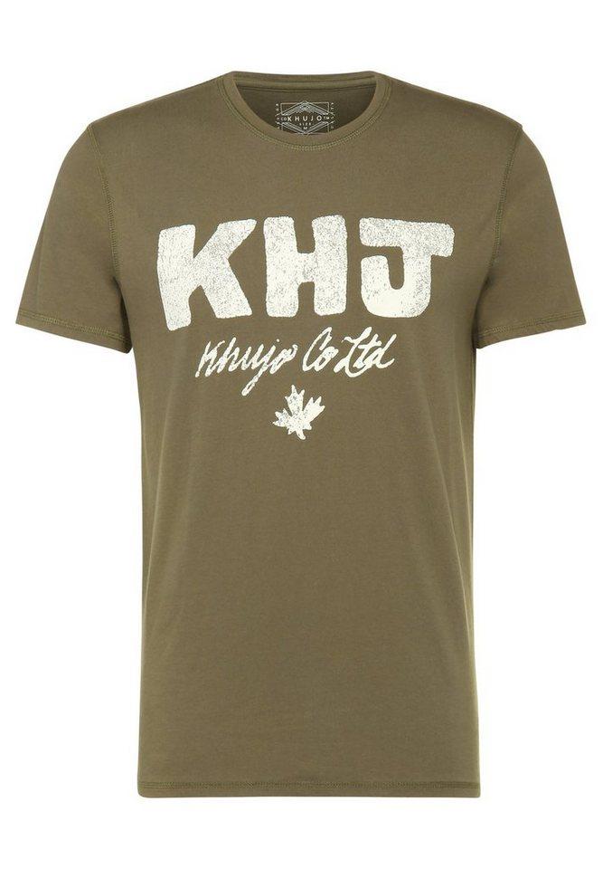 khujo Print-Shirt »TABB« in braun