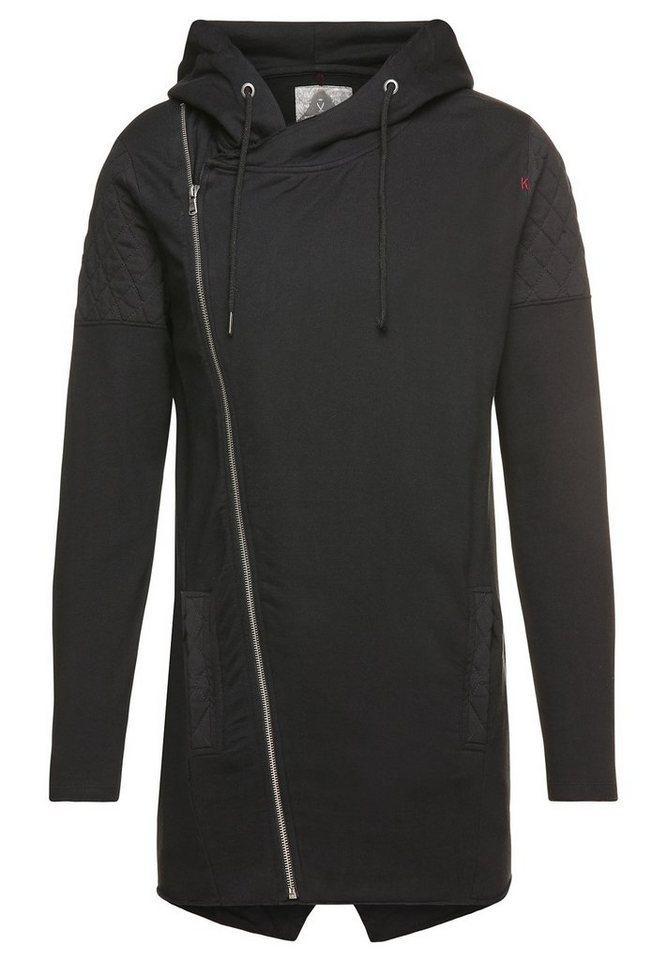khujo Kapuzensweatshirt »WASCO« in schwarz