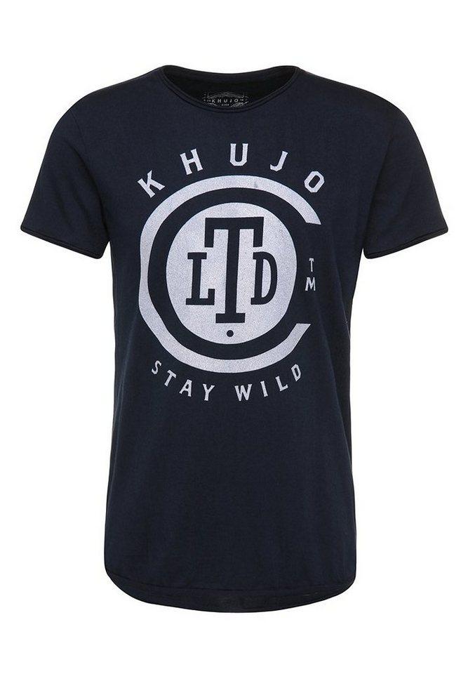 khujo T-Shirt »TASHKENT« in dunkelblau