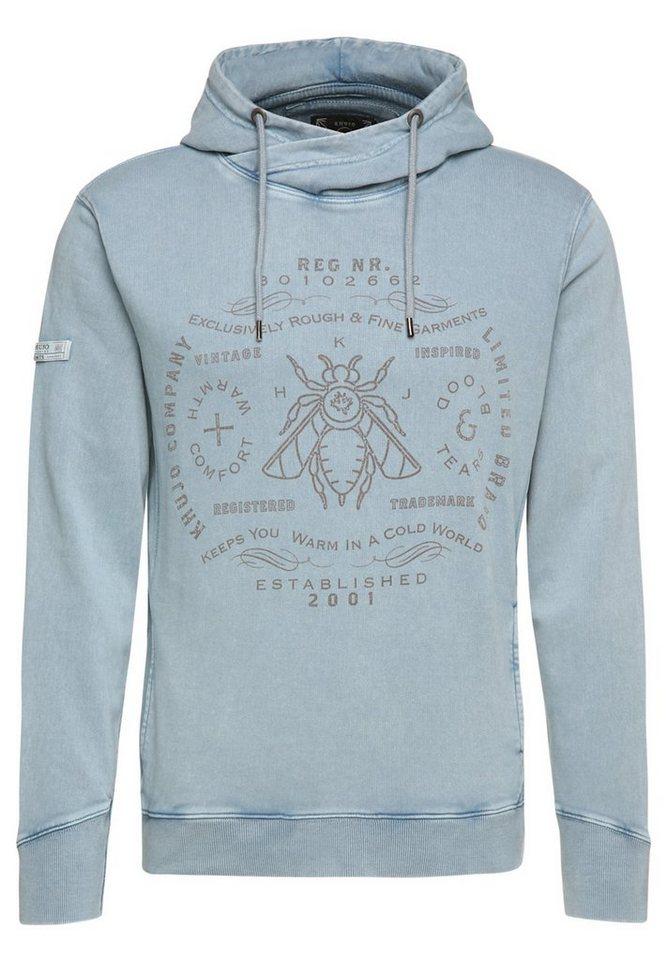 khujo Kapuzensweatshirt »WYNN« in blau-grau