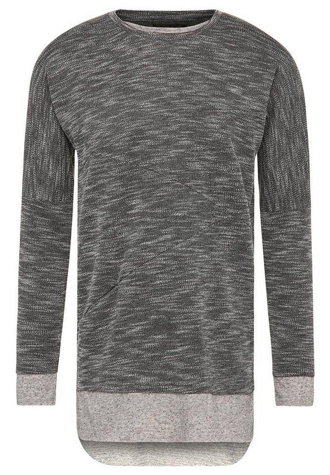khujo Layershirt »TRISTAM« in schwarz-weiß
