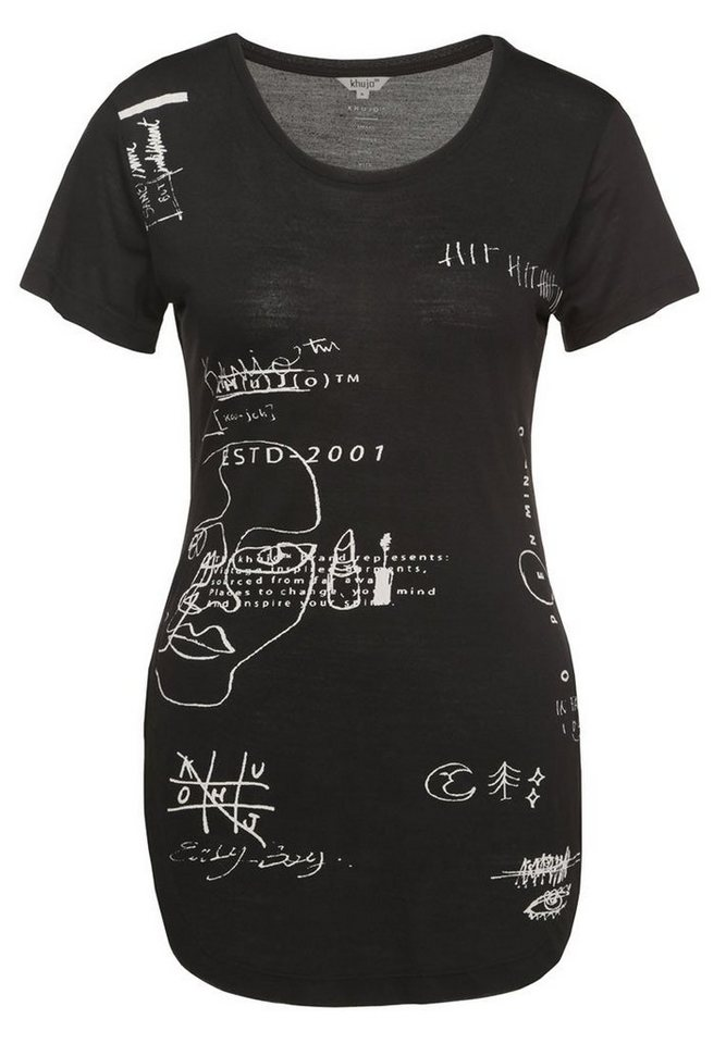 khujo Print-Shirt »SUMMER« in schwarz