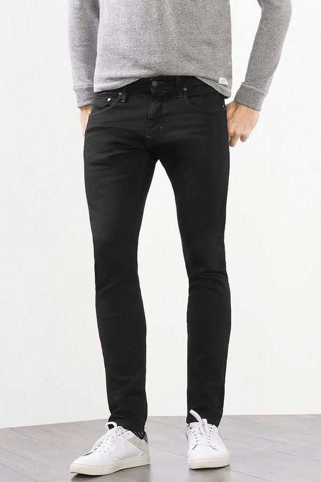 EDC Schmale 5-Pocket Stretch-Jeans in BLACK RINSE