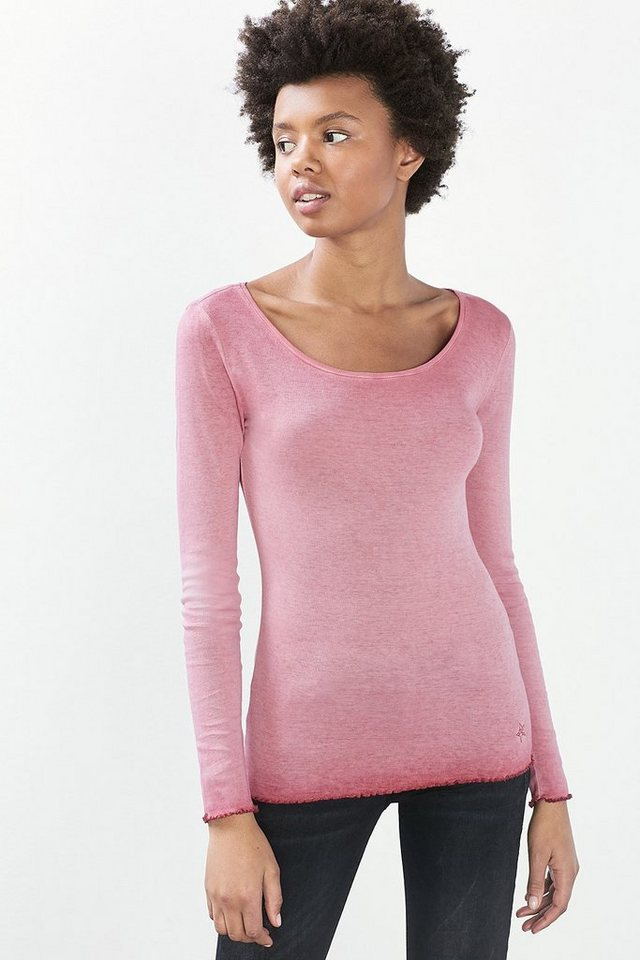 EDC Washed Longsleeve, 100% BW in BLUSH