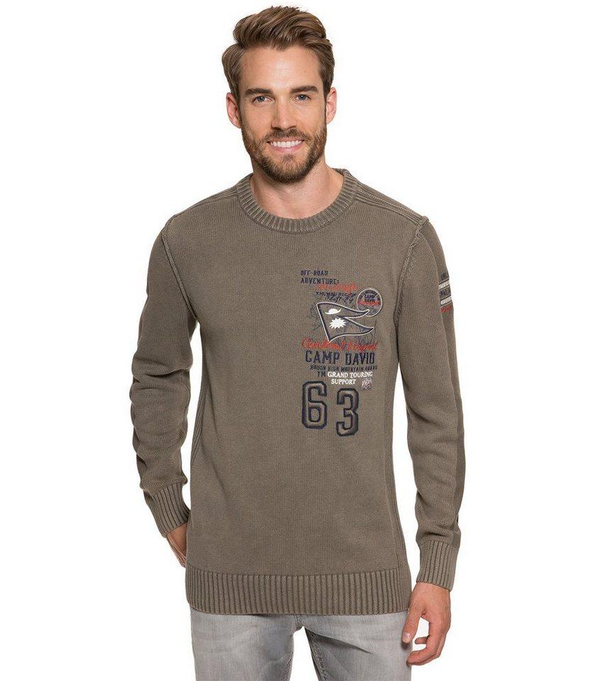 CAMP DAVID Pullover in khaki