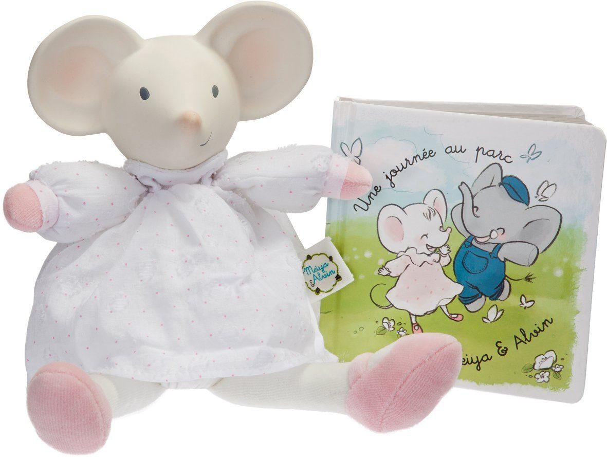 Schildkröt Set: Kuscheltier + Bilderbuch, »Großes Geschenkset Meiya, die Maus«