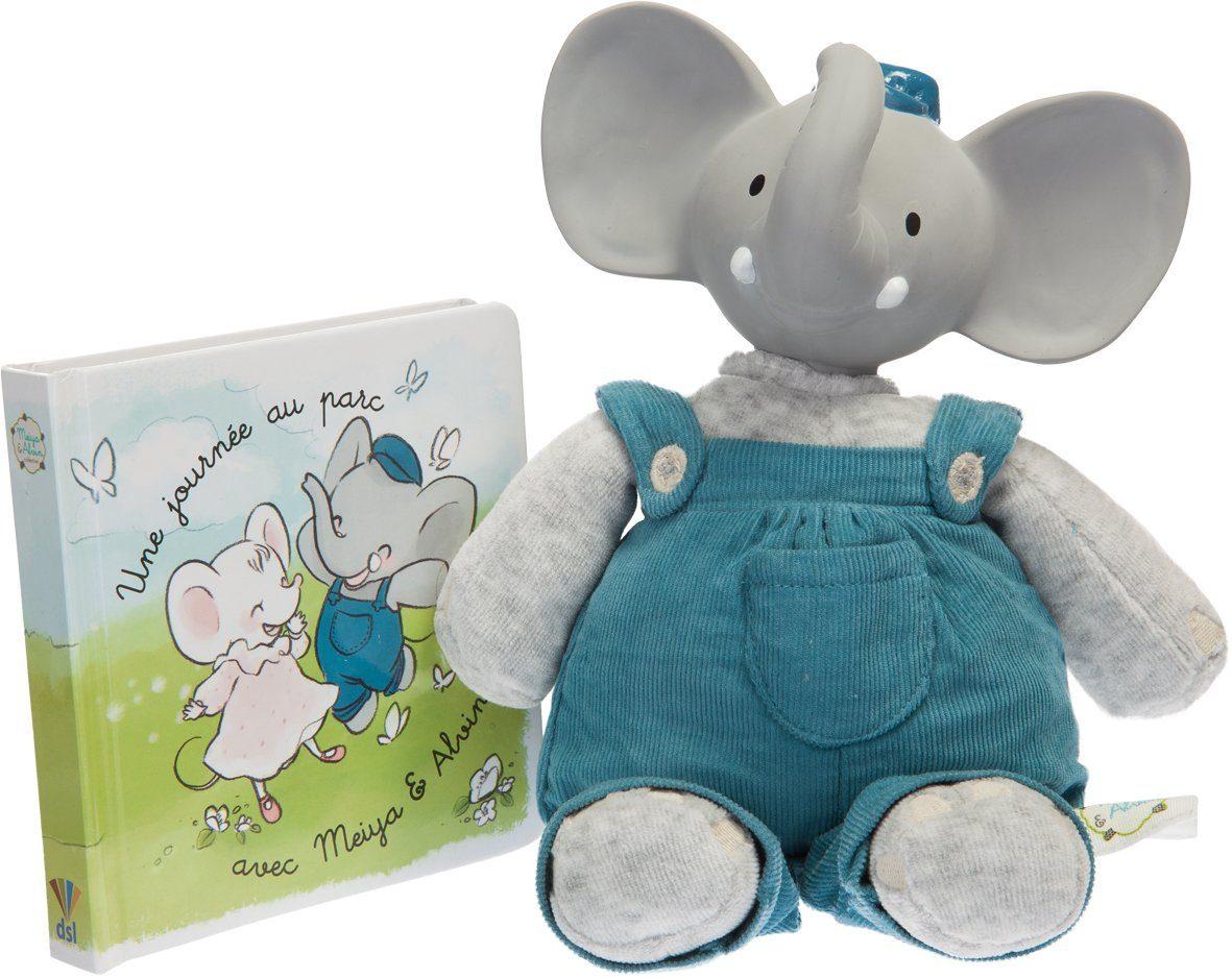 Schildkröt Set: Kuscheltier + Bilderbuch, »Großes Geschenkset Alvin, der Elefant «