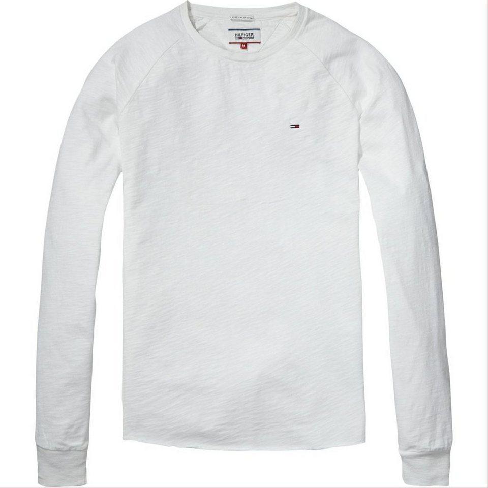 Hilfiger Denim Sweatshirts »THDM CN KNIT L/S 9« in White