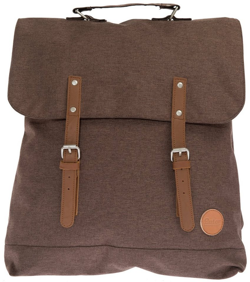 Enter Rucksack, »Backpack, Melange Dark Brown« in braun