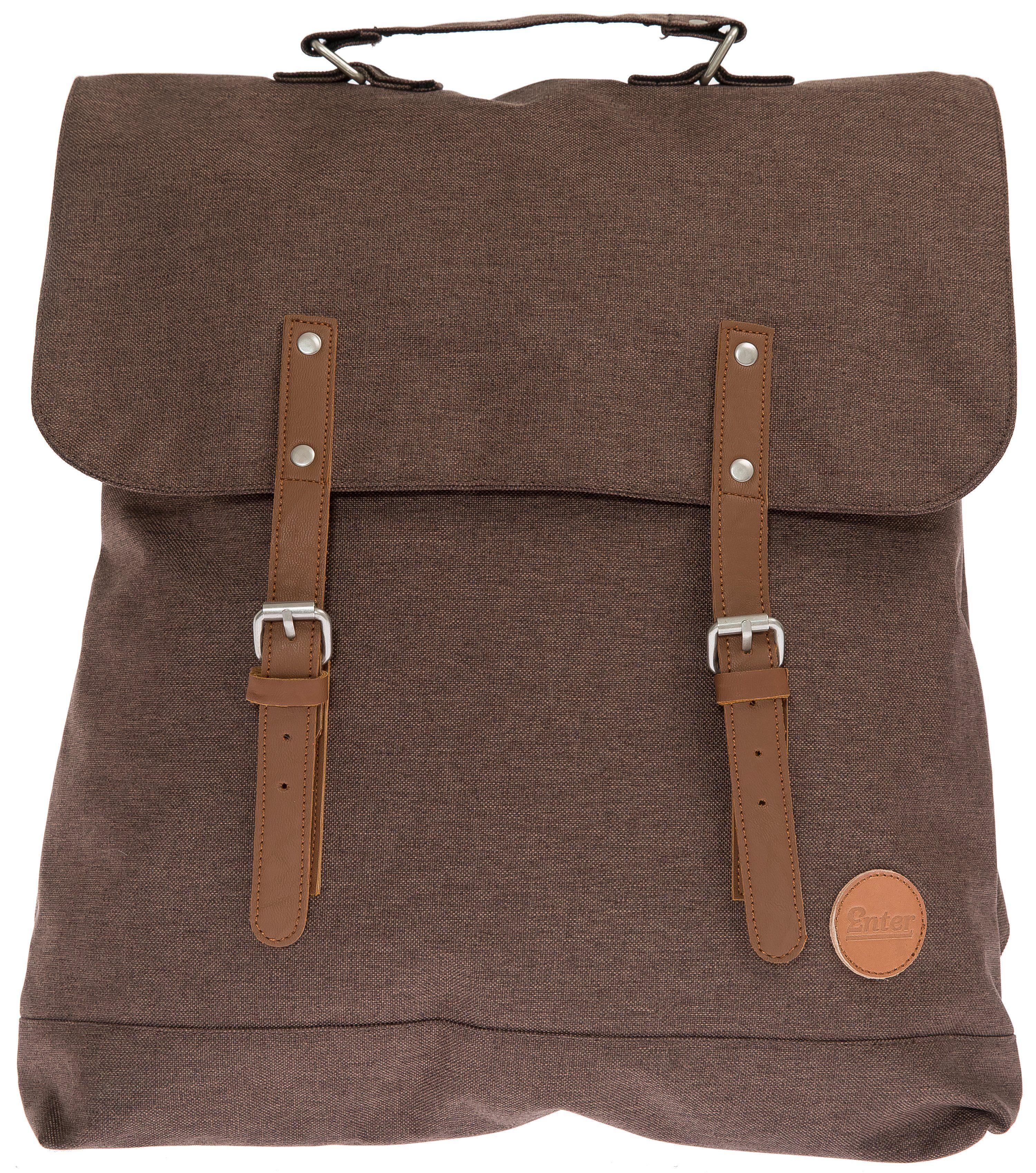 Enter Rucksack, »Backpack, Melange Dark Brown«