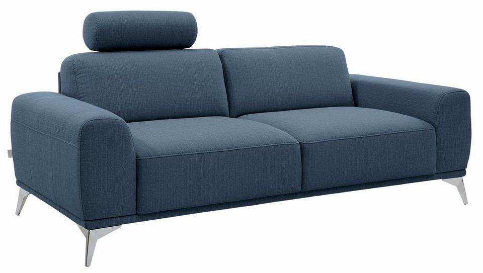GMK Home & Living 2-Sitzer Sofa »Tea«, mit Kopfstütze in aqua