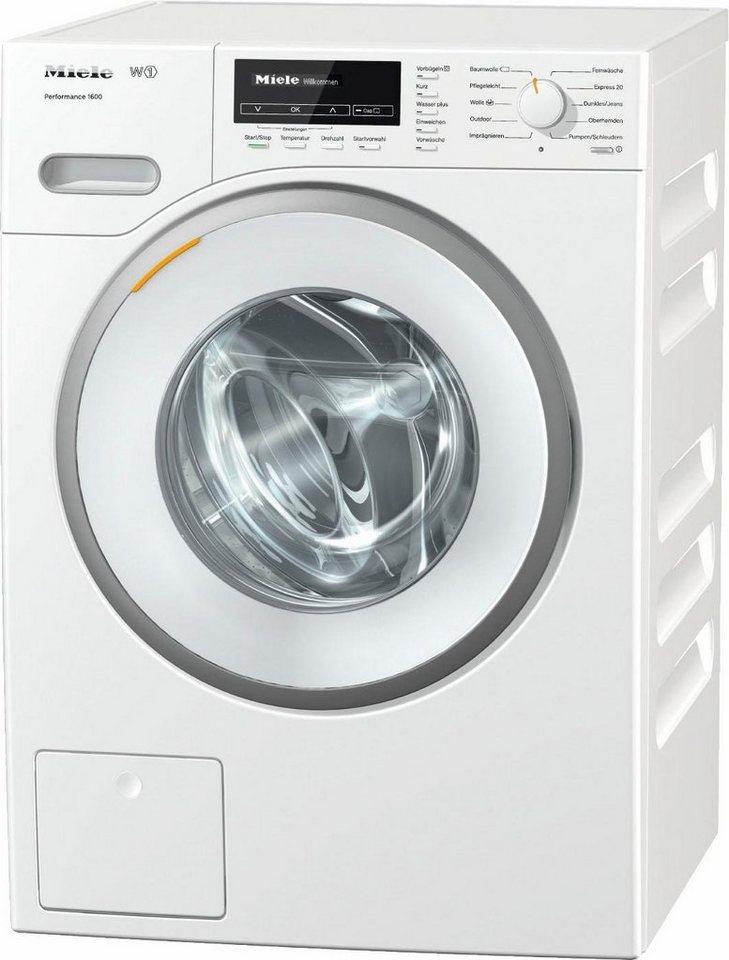 MIELE Waschmaschine W1 Performance 1600, A+++, 8 kg, 1600 U/Min in weiß