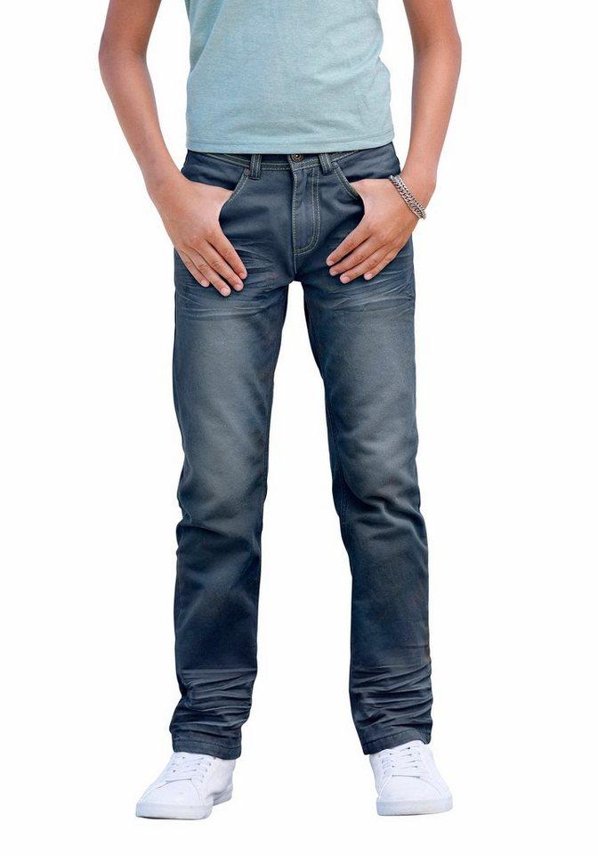 Arizona Regular-fit-Jeans mit geradem Bein in blue-used