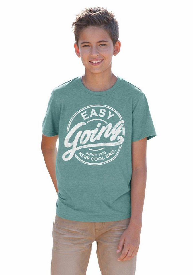 Arizona T-Shirt Mit Druck vorn in hellpetrol