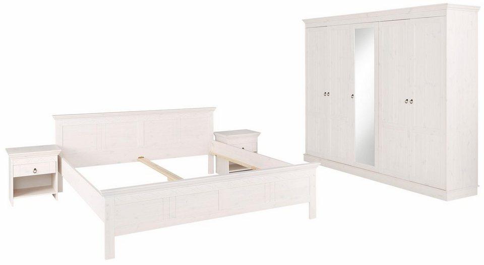 Home affaire Schlafzimmer-Set, bestehend aus 180er Bett, 5-trg Schrank und  2 Nachttischen online kaufen   OTTO