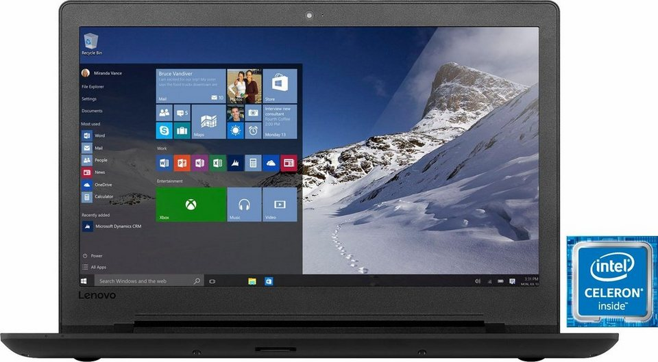 Lenovo IdeaPad 110-15IBR Notebook, Intel® Celeron™, 39,6 cm (15,6 Zoll), 1000 GB Speicher in schwarz