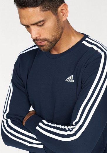adidas Performance Sweatshirt ESSENTIALS 3 STRIPES CREW FRENCH TERRY