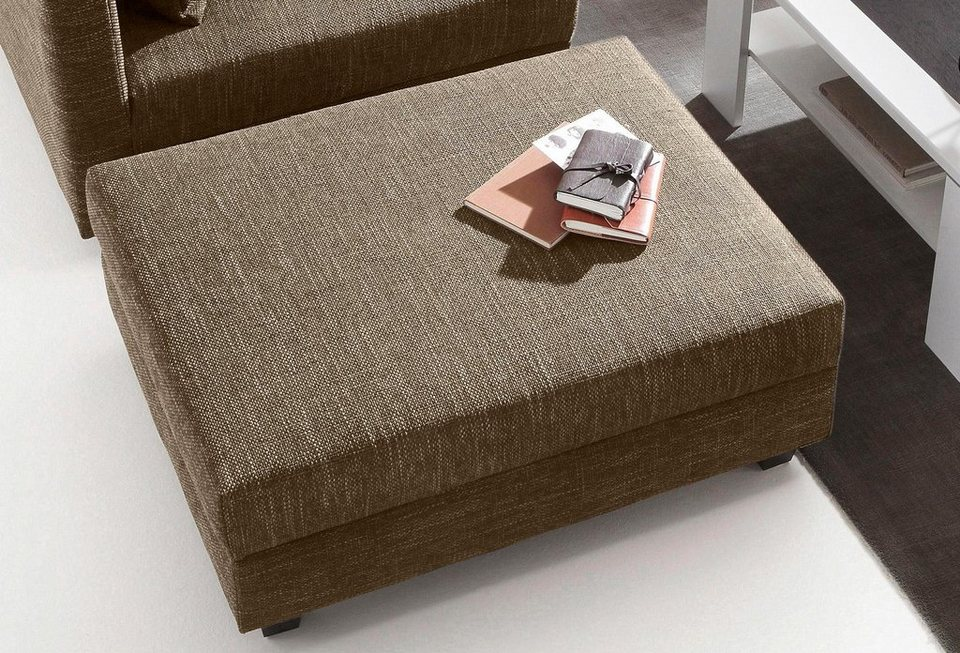 Hocker in braun/beige