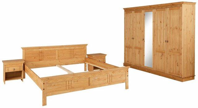 Schlafzimmer Sets - Home affaire Schlafzimmer Set, bestehend aus 180er Bett, 5 trg Schrank und 2 Nachttischen  - Onlineshop OTTO
