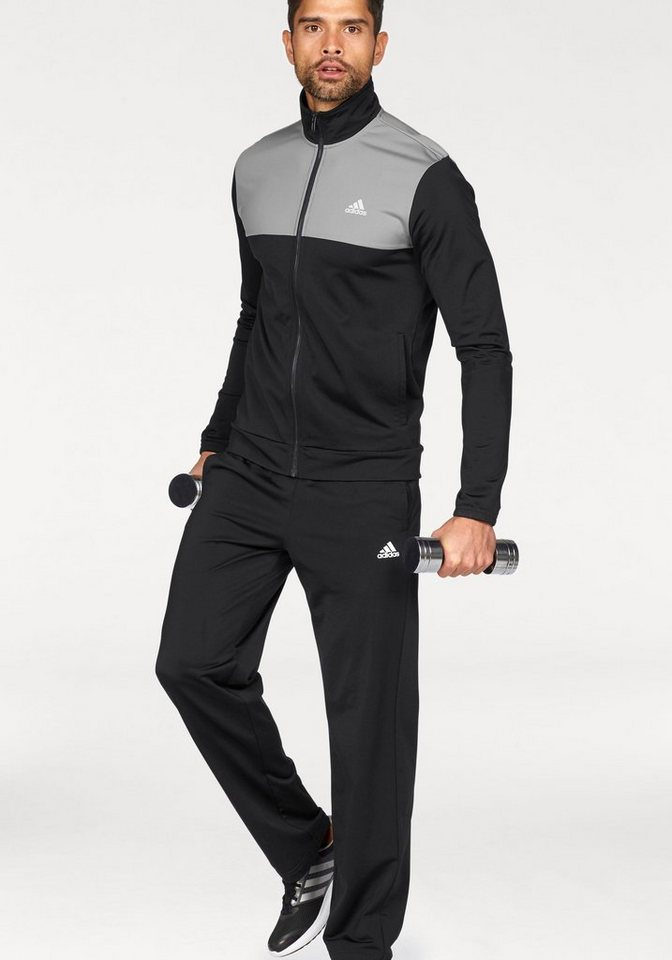 adidas performance trainingsanzug back 2 basics tracksuit. Black Bedroom Furniture Sets. Home Design Ideas
