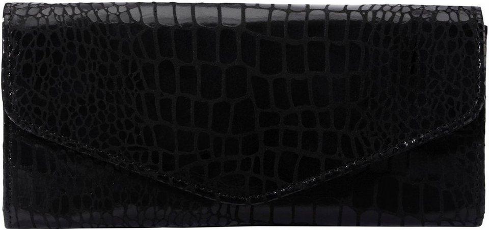 Liebeskind Clutch »Doro« mit Croco Prägung in schwarz