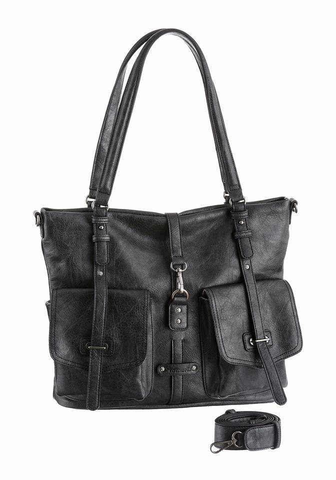 Tamaris Shopper »BERNADETTE« in schwarz