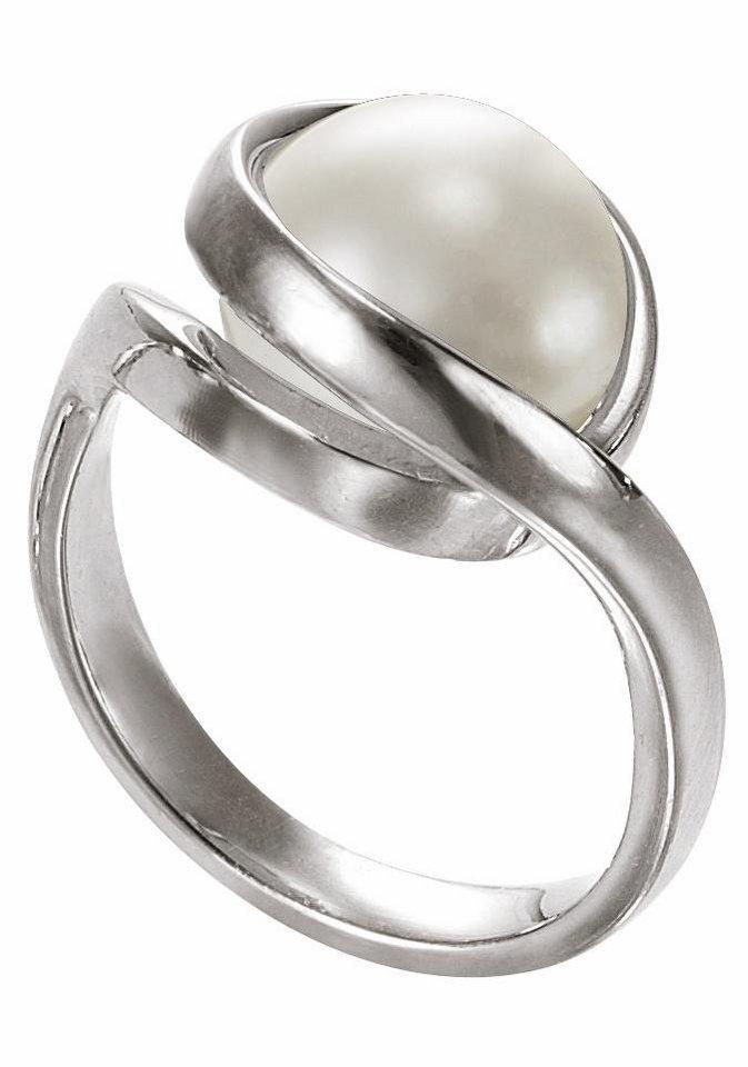 Merii Silberring »M0518R/90/C7/54« mit Glasperle in Silber 925-weiß