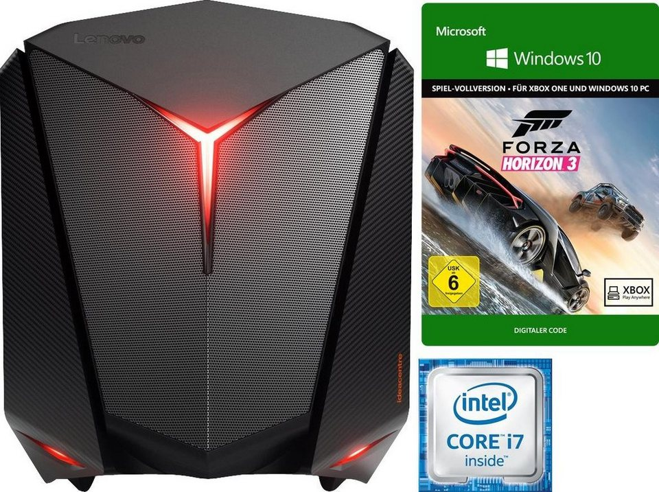 Lenovo ideacentre Y710 Cube-15ISH Gaming-PC, Intel® Core™ i7, 16384 MB DDR4, 2256 GB Speicher