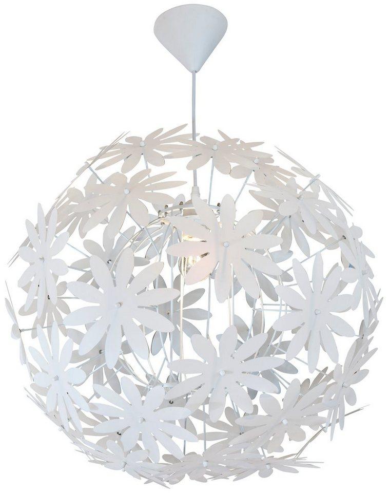 Nino Leuchten Pendelleuchte, 1flg., »FLOWER« in weiß