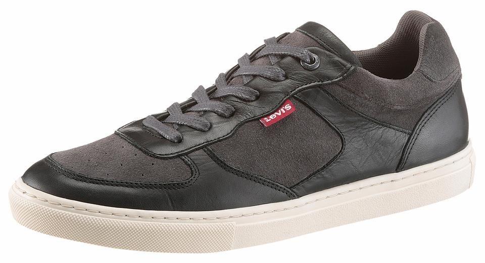 Levi's® »Perris Oxford« Sneaker mit herausnehmbarer Synthetikinnensohle in schwarz-grau