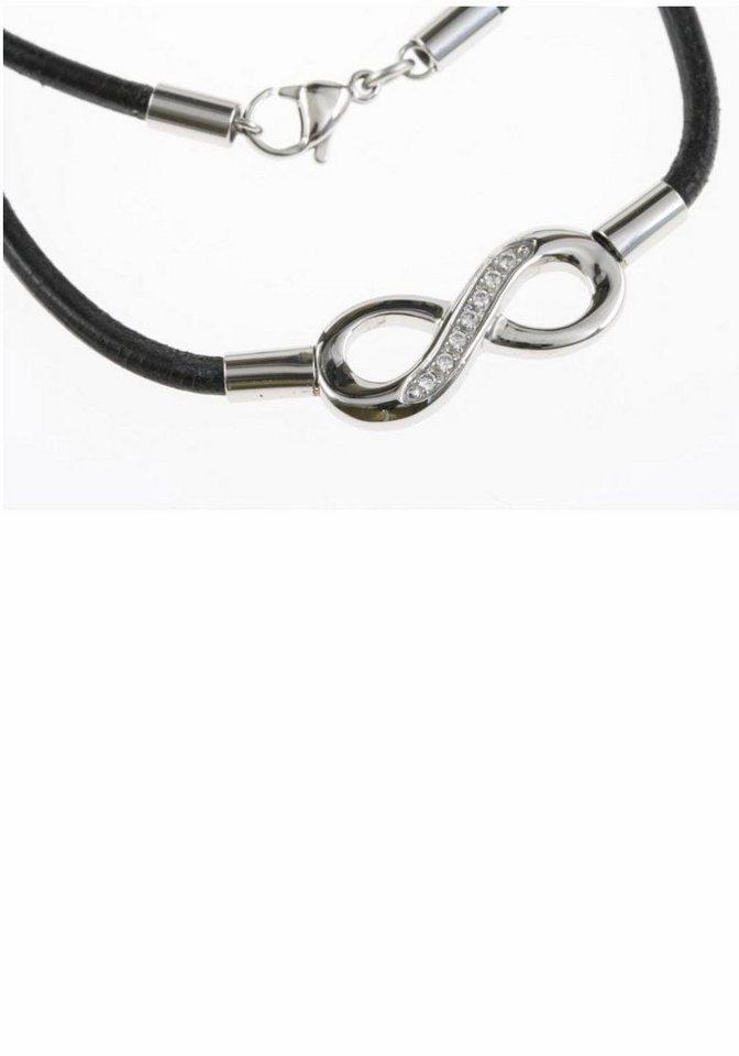 Firetti Kette mit Anhänger »Infinity« mit Zirkonia in silberfarben-schwarz
