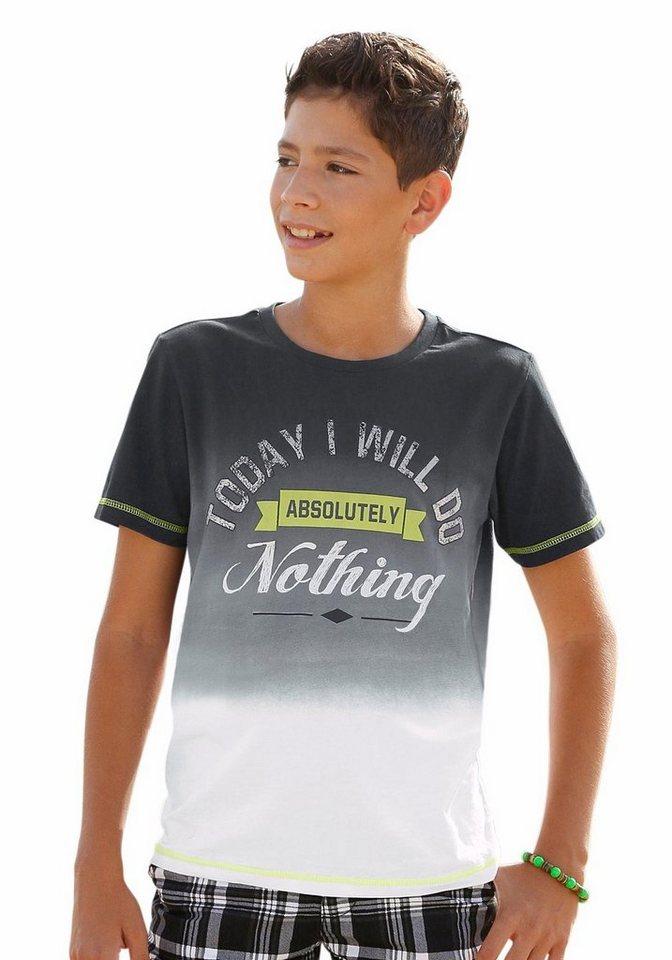 Arizona T-Shirt Mit Farbverlauf und Druck vorn in schwarz