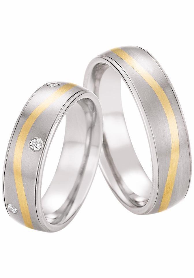 Firetti Trauring wahlweise mit oder ohne Brillanten in titansilberfarben-Gelbgold 585