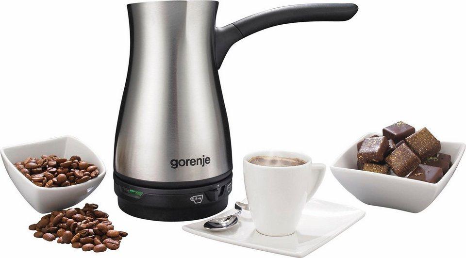 Gorenje Türkischer Kaffeebereiter TCM800E für bis zu 4 Tassen gleichzeitig in edelstahl/schwarz