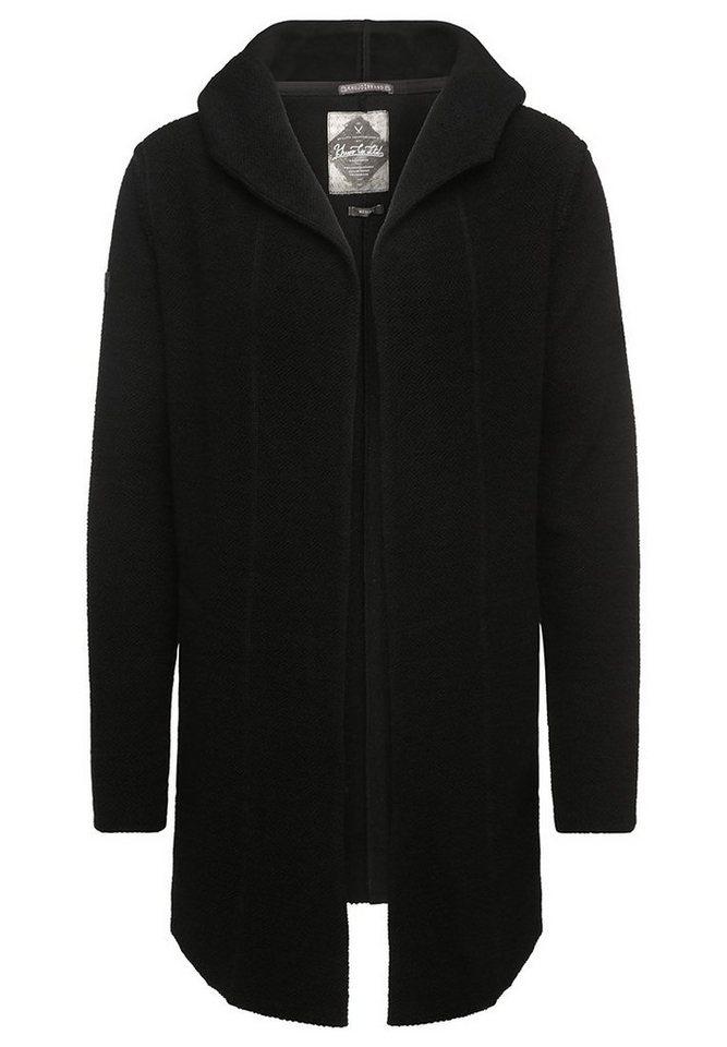 khujo Kapuzensweatshirt »WAKED« in schwarz