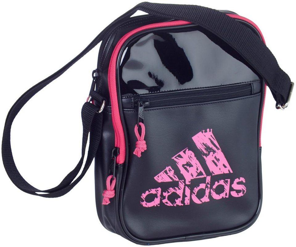 adidas Performance Umhängetasche in schwarz-pink