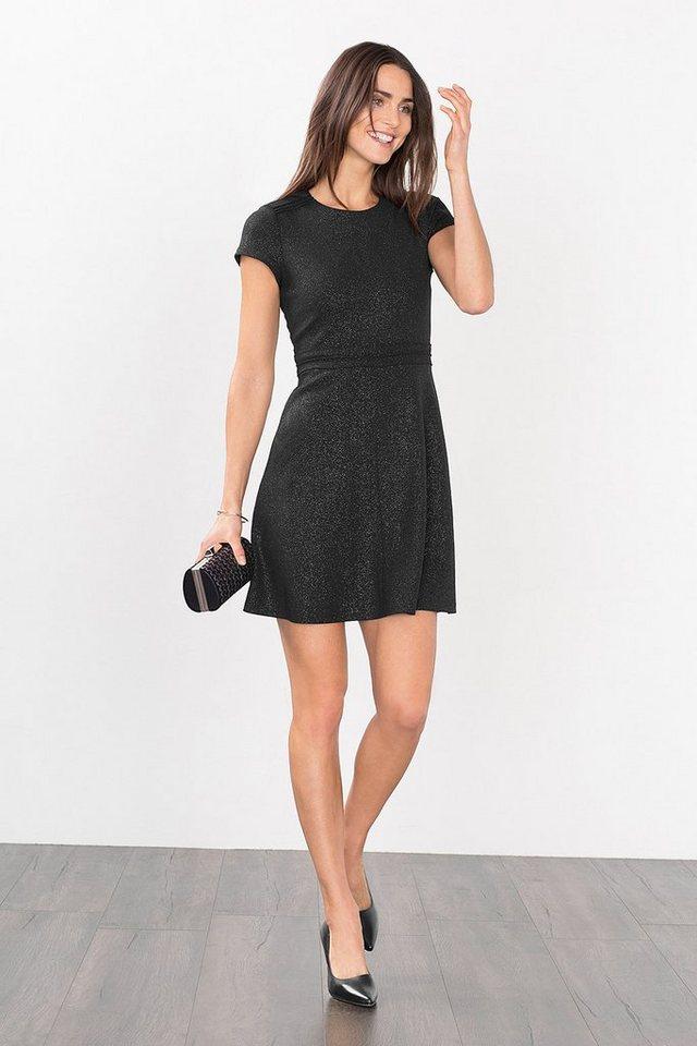 ESPRIT CASUAL Crêpe-Kleid in glitzerndem Lurex-Look in BLACK
