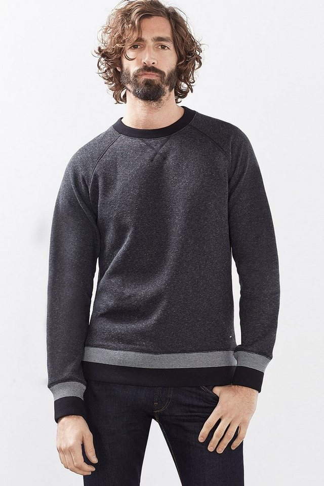 ESPRIT CASUAL Baumwoll Sweatshirt mit Fleece-Innenseite in ANTHRACITE