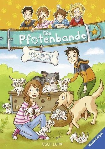 Gebundenes Buch »Lotta rettet die Welpen / Die Pfotenbande Bd.1«
