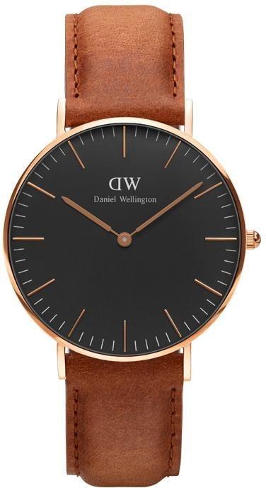 Daniel Wellington Quarzuhr »Classic Black Durham, DW00100138« in hellbraun