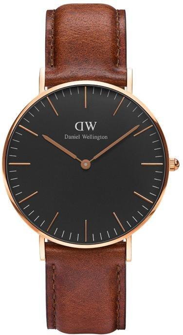 Daniel Wellington Quarzuhr »Classic Black St Mawes, DW00100136« in dunkelbraun