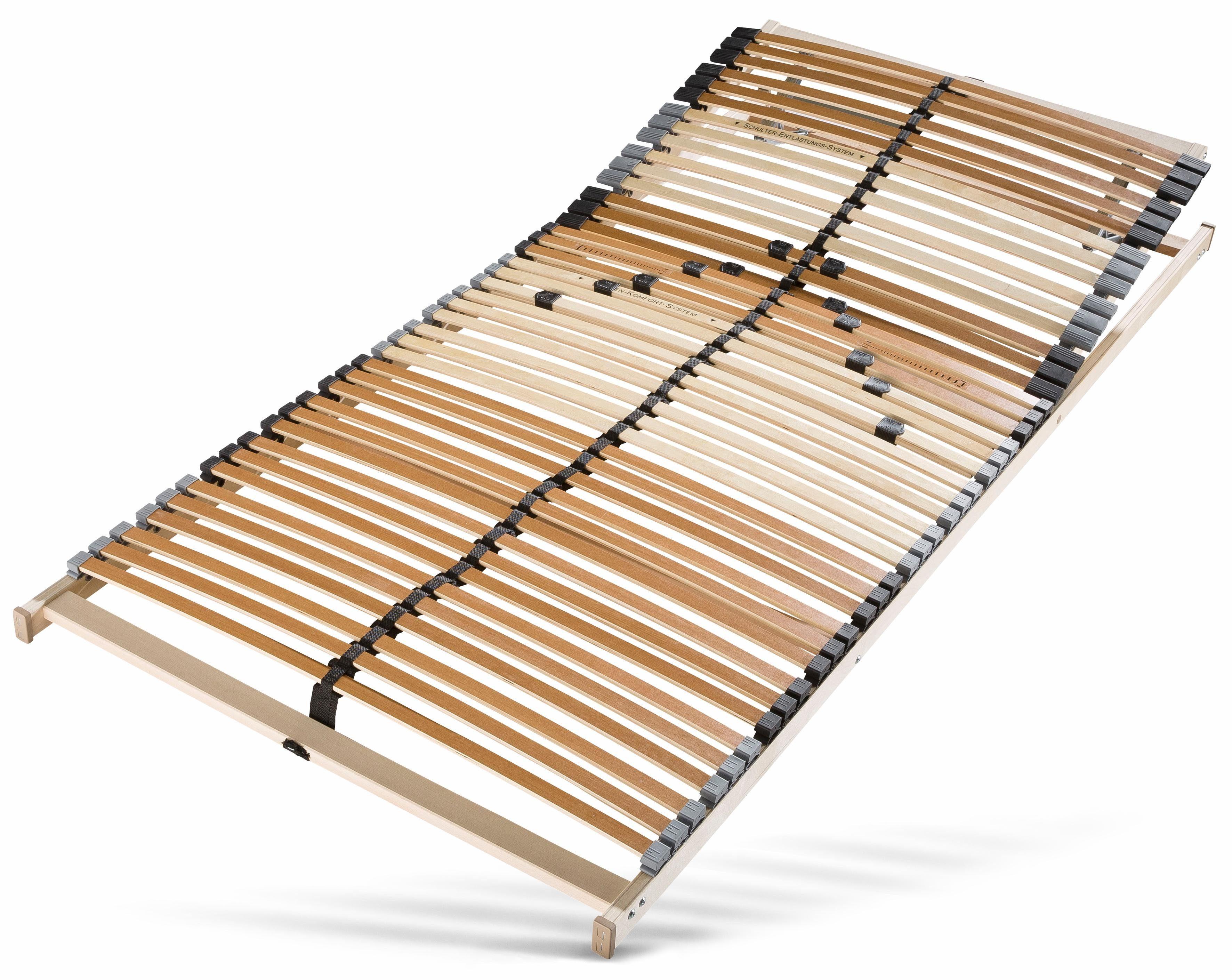 Lattenrost, »Perfekta«, Beco, 42 Leisten, Kopfteil manuell verstellbar, Ideal für Doppelbetten geeignet