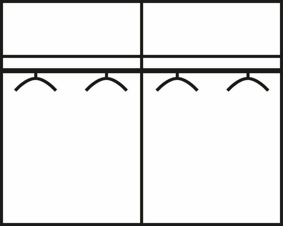 rauch Schwebetürenschrank mit Spiegeltür in graumetallic/weiß