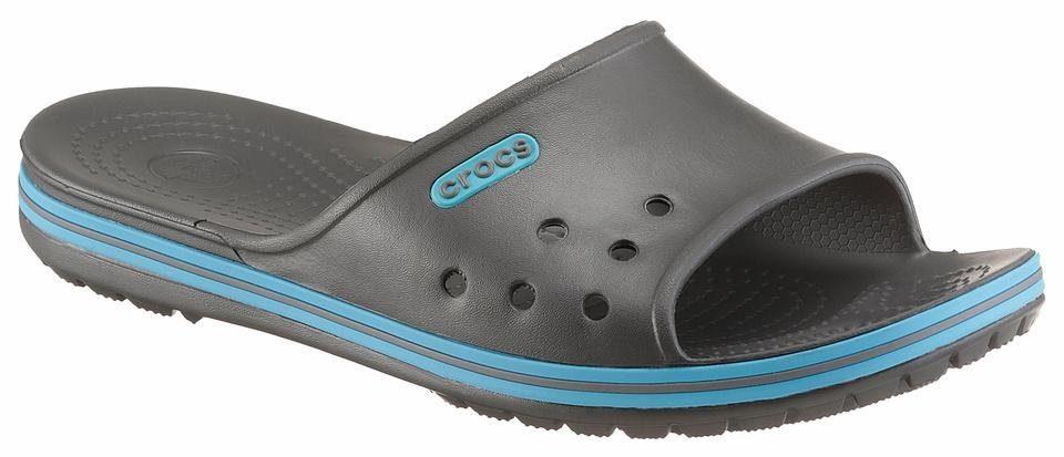 Crocs Crocband II Slide Pantolette, mit feinen Noppen online kaufen  anthrazit