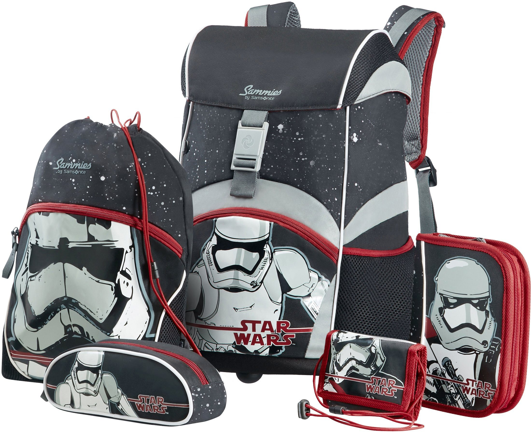 Samsonite Schulranzen Set, »Sammies by Samsonite Disney Star Wars« (5tlg.)