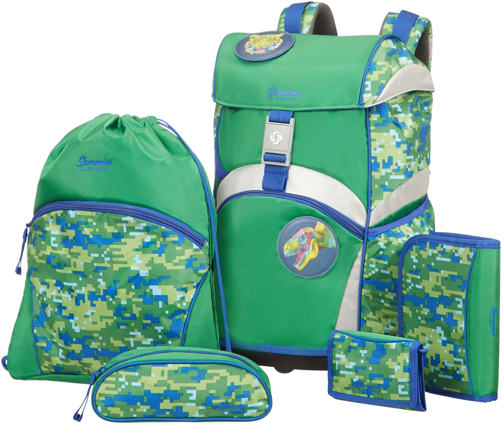 Samsonite Schulranzen Set, »Sammies by Samsonite Jungle Adventure« (5tlg.)