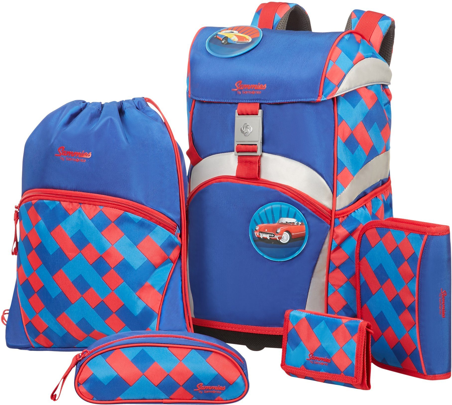 Samsonite Schulranzen Set, »Sammies by Samsonite Funky Blue« (5tlg.)