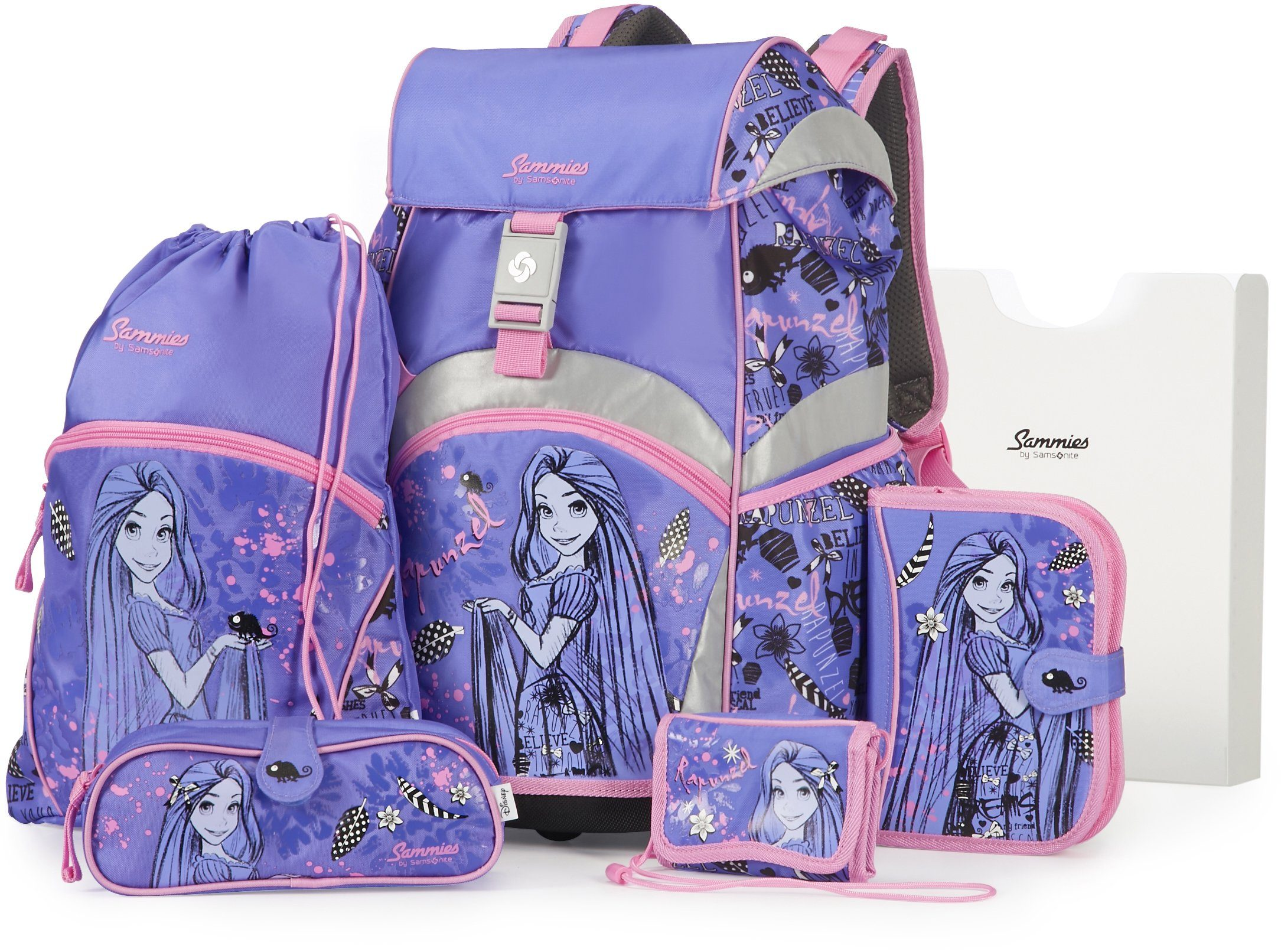 Samsonite Schulranzen Set, »Sammies by Samsonite Disney Rapunzel« (5tlg.)