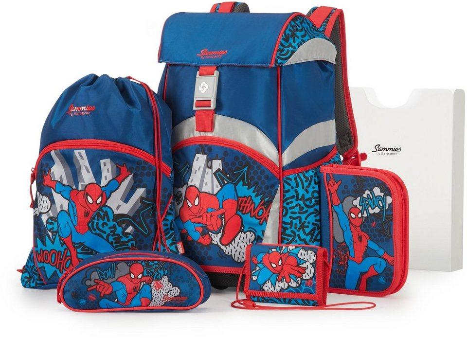 Samsonite Schulranzen Set, »Sammies by Samsonite Spiderman« (5tlg.) in Spiderman